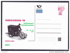 Entier Postal Tchèque Neuf 1999 SINDELFINGEN Facteur Sur Un Tricycle Postal - Ansichtskarten
