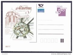 Entier Postal Tchèque Neuf 2001 CHOMUTOV Eglise Sainte Catherine - Ansichtskarten