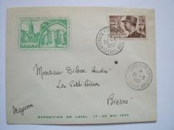 LAVAL - 53 -Centenaire Foire Exposition Du 17 Au 25 Mai 1952 - Oblitération Du 24-5-1952 - Postmark Collection (Covers)