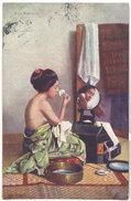 Cpa Asie, Japon - A La Toilette ( Femme Seins Nus )    ((S.1658)) - Japon