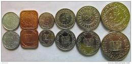 """Suriname Set Of 6 Coins 1979-1989 """"1+5+10+25+100+250 Cents"""" UNC - Surinam 1975 - ..."""