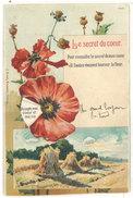 Cpa Système Roulette, Fleurs, Coquelicots - Le Secret Du Coeur  ((S.1674)) - A Systèmes