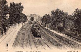 """V5895 Cpa 92 Asnières - La Ligne De Versailles """" Train"""" - Asnieres Sur Seine"""