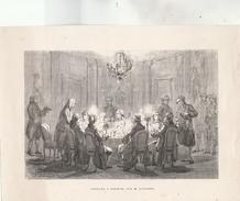 Gravure XIXè S. : Voltaire à Potsdam ... Par Dansaert. - Non Classificati