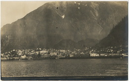 Real Photo Juneau Alsaka From The Sea - Juneau