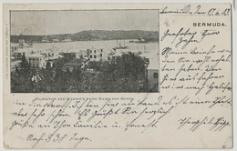 Hamilton And Harbour From Hamilton Hotel  Edit S. Nelmes Used 1903 To Mulhouse - Bermudes