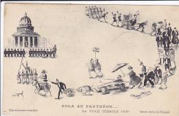 Cpa-illustrateur Louis Dangel-zola Au Pantheon - Zonder Classificatie