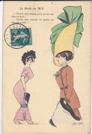 Cpa-illustrateur-xavier Sager-la Mode En 1910-femme Avec Grand Chapeau - Sager, Xavier