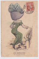 Cpa-illustrateur-mouton-les Entravées-femme Avec Grand Chapeau-mode - Illustrators & Photographers