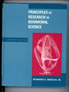 Principles Of Research In Behavioral Science  (second Edition) - Culture