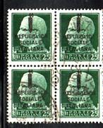 T2285 - RSI REPUBBLICA SOCIALE 1944 , Sassone N. 491 Quartin Usata - 4. 1944-45 Social Republic