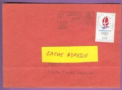 Timbre Sur Lettre 2632 : Jeux Olympiques D'hiver 1992 Albertville  / Sport  03/04/1995 France - Winter 1992: Albertville