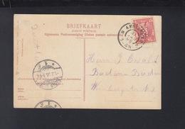 Postkaart Arnhem 1906 Perfin - Briefe U. Dokumente