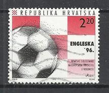 CROATIA 1996 - EUROPEAN FOOTBALL CHAMPIONSHIP - USED OBLITERE GESTEMPELT USADO - Calcio