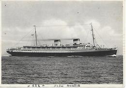 407-1940-ITALIA-Società Di Navigazione- Transatlantico Rex- - Barche