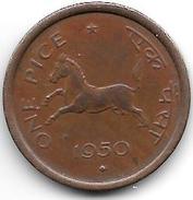 * India 1 Pice   1950 B Km 1.2   Xf+!!!! - Inde