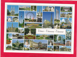 Modern Multi Post Card Of Wien,Vienna, Austria,Posted With Stamp,D7. - Vienna Center