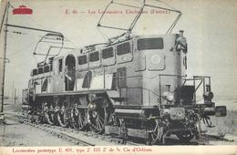 E46-LES LOCOMOTIVES ÉLECTRIQUES (France) - Locomotive Prototype E 401 De La Cie D'Orléans. - Trains