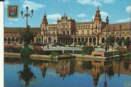 Sevilla   La Place D'Espagne Animée ( Timbrée Du Portugal  1991)  Voir Scan - Sevilla