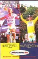 Marco Pantani 1998 Giro-Tour, Cartoncino - Wielrennen