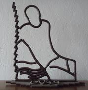 Vignal - Dance - Dessin De Fer - Sculpture - Oeuvre Unique 35 X 39 Cm - Altri