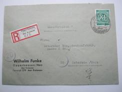 1946 , OPPERHAUSEN über Kreiensen , Einschreiben Mit Ankunftstempel - Soviet Zone