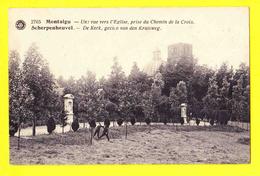 * Scherpenheuvel Zichem - Montaigu (Vlaams Brabant) * (G. Hermans, Nr 2765) Chemin De La Croix, L'église, Kerk, Church - Scherpenheuvel-Zichem