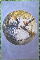 Litho Art Nouveau CEKO Illustrateur F. HARDY ? Femme Fille Marquise Robe Princesse Et Ecureuil Fond Argent - Hardy, Florence