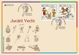 SALE!!! RUMANIA ROMANIA RUMANIE RUMÄNIEN 2015 EUROPA CEPT OLD TOYS - FDC First Day Cover - Europa-CEPT