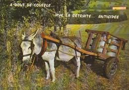 A BOUT DE SOUFFLE - VIVE LA RETRAITE ANTICIPEE - ANE - LAIT - LAITIER - Humor