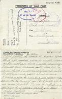 CAMPO PRIGIONIERI POW CAMP 77 ANNSMUIR LADY BANK GREAT BRITAIN 1942 X GALLIERA - Military Mail (PM)