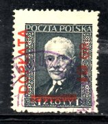 T2315 - POLONIA 1934 , Yvert N. 94 Usato . Vergè Vert. - Oblitérés