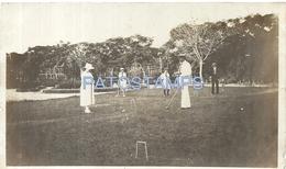 63780 ARGENTINA SANTA FE OLD GAME JUEGO CROQUET AÑO 1921 PHOTO NO POSTAL TYPE POSTCARD - Photographs
