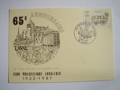LAVAL - 53 - Journée Du Timbre - Oblitération Du 14 Mars 1987 - FDC