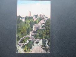 AK Österreich / Tschechien / Sudetenland 1917 Brunnersdorf. Burg Ruine Hassenstein. Stempel: Prödlitz B. Aussig. - Sudeten