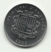2002 - 1 Centim 2002, - Andorra