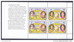 Jersey MNH SS, Kings, William, Rollon Duke, Philippe Auguste - - Royalties, Royals