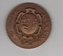 Medaille Bronze_  Lima Pérou_  Exposition Française 1957 - Tokens & Medals