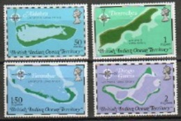 British Indian Ocean Territory Celebrating The 10th Anniversary Of The Territory Maps. - British Indian Ocean Territory (BIOT)