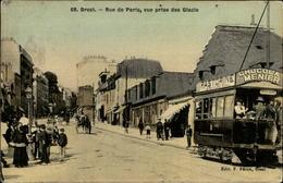 29 - BREST - Rue De Paris - Tramway - Carte Toilée - Brest