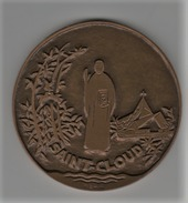 Medaille Bronze_ Saint-Cloud - 6 Octobre 1984 à Valery Giscard D'Esstaing - France