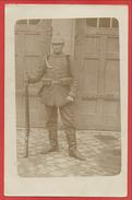 Carte Photo Allemande - Foto - Soldat Allemand - Guerre 14/18 - 2 Scans - Guerra 1914-18