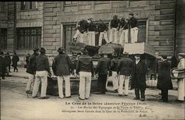 29 - BREST - PARIS - Crue De La Seine - Les Marins Des Equipages De La Foltte De Brest Débarquent Leur Canots - Brest