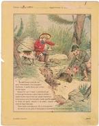 Couverture De  Cahier 19° Siècle - Illustration La Chasse Au Lapin De Garenne Avec Furet- Collection Godchaux  TRES RARE - Animals