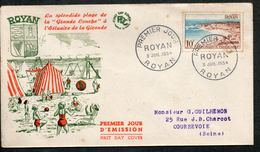 FDC ROYAN  N°978 COTE 6  EUROS - 1950-1959