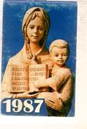 Calendrier 1987 Italien Istituti Antoniani Femminili Annibale Di Francia - Enfants Prêtre Curé Religion ... - B. Piante Fiorite & Fiori