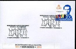 16650 Vaticano, Fdc 2015  Don Bosco Salesian - Celebrità