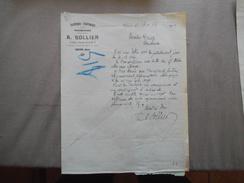 VERVINS AISNE A. SOLLIER PAPETERIE-PARFUMERIE MAROQUINERIE 8 PLACE CECCALDI COURRIER DU 13-12 1920 - France