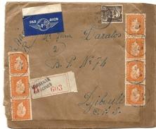 LETTRE REC PAR AVION POUR DJIBOUTI . 1945 - 1921-1960: Periodo Moderno