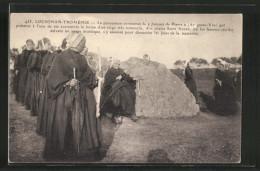 AK Locronan-Troménie, La Procession Contourne La Jument De Pierre..., Prozession - Glaube, Religion, Kirche